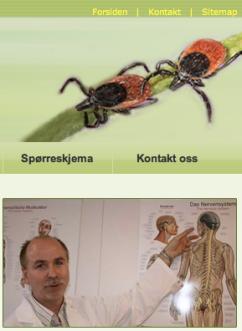 Hjemmeside Norsk Borreliose Senter
