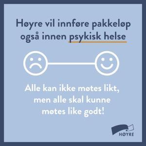 Høyres reklame for pakkeforløp i psykiatri, august 2015.